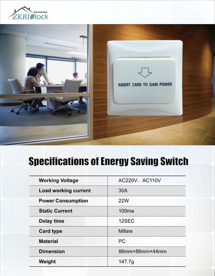 Door Lock Energy Saving Switch