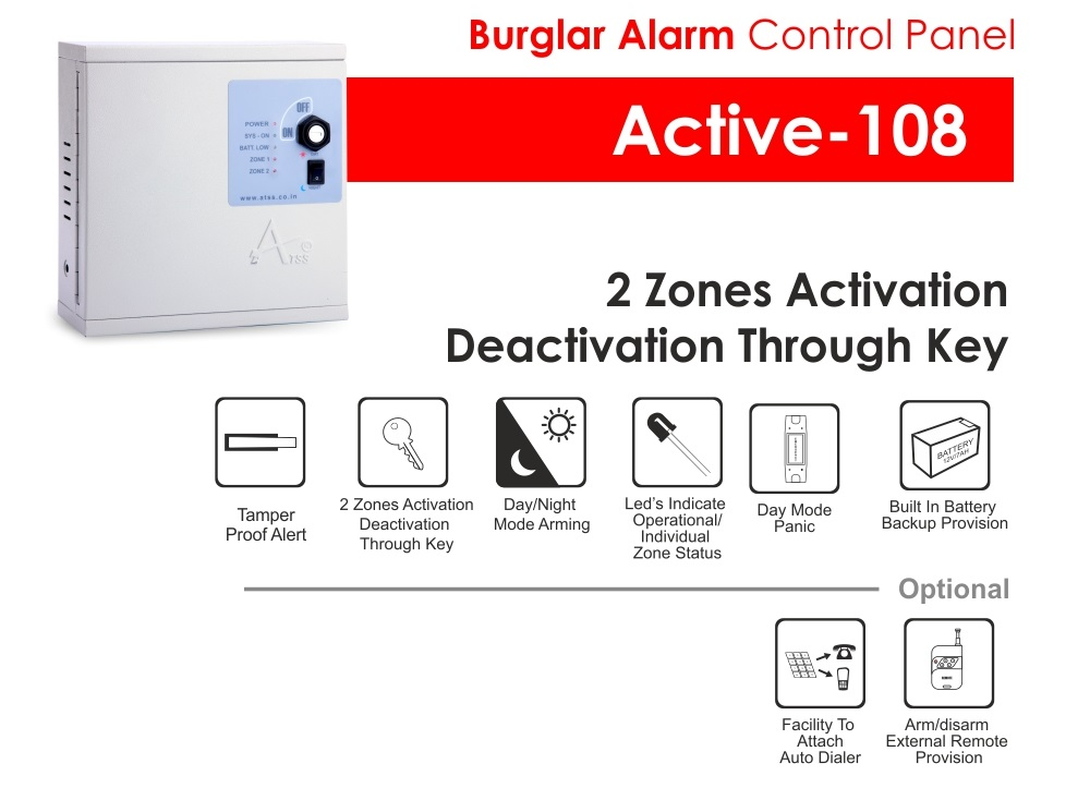Commercial Security Alarm Active 108 Atss Chennai India